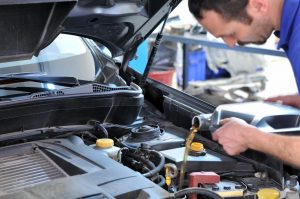 Servicing vehicles or oil change